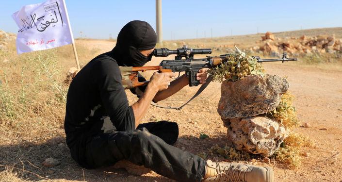 Członek Wolnej Armii Syrii
