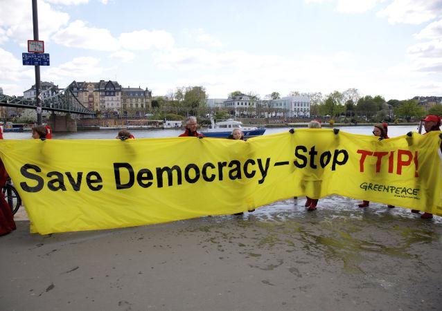 Akcja protesu przeciwko porozumieniu TTIP