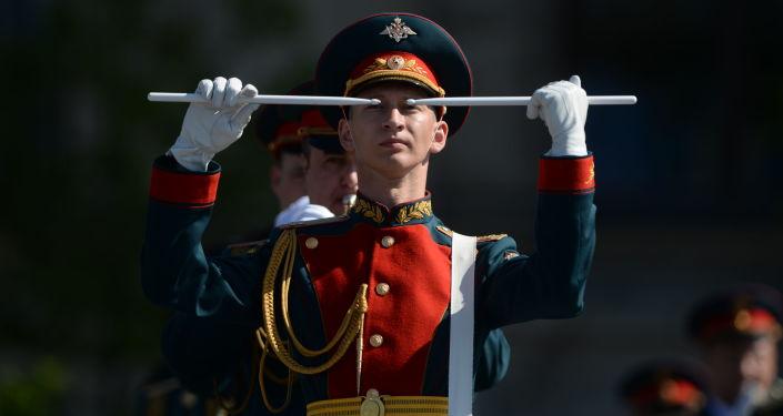 Próba generalna parady z okazji 9 maja z Placu Czerwonego
