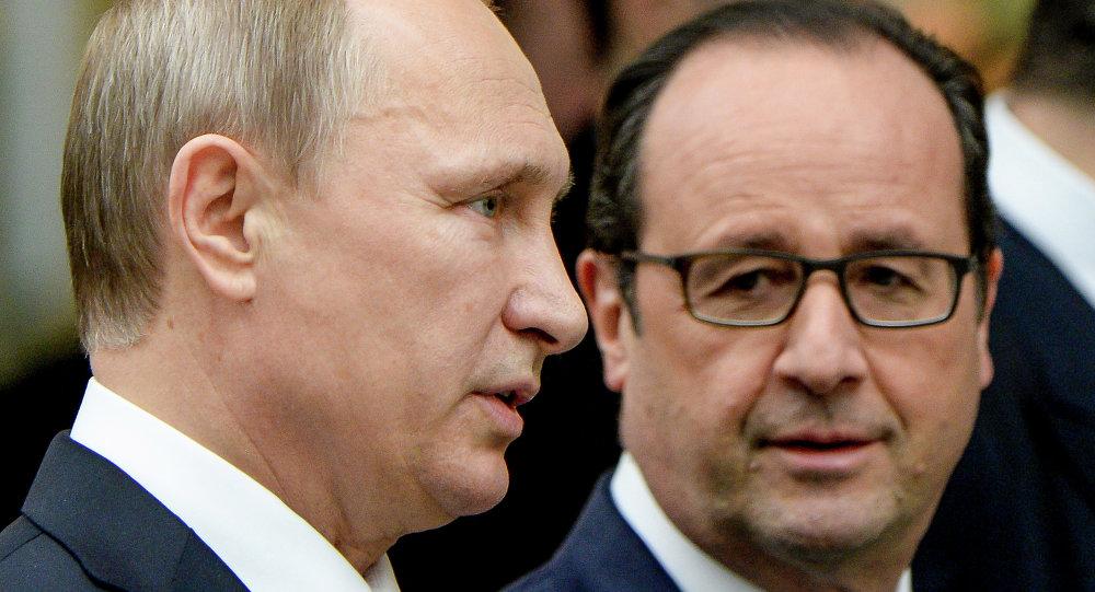 Władimir Putin i Francois Hollande