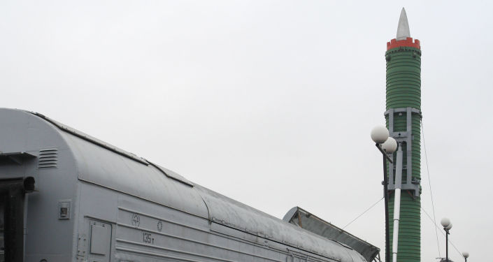 Bojowy kolejowy rakietowy kompleks Mołodiec z międzykontynentalną rakietą balistyczną RT-23UTTH