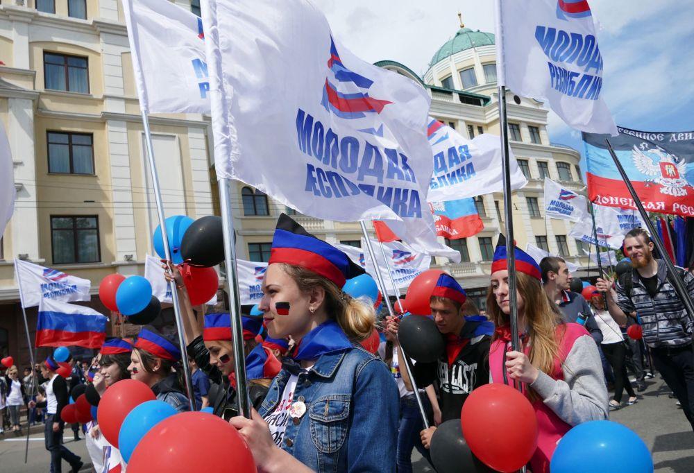 """Zacharczenko podkreślił, że """"11 maja 2014 roku naród dokonał swojego wyboru na referendum powszechnym, które stało się przełomowym momentem w historii Donbasu""""."""