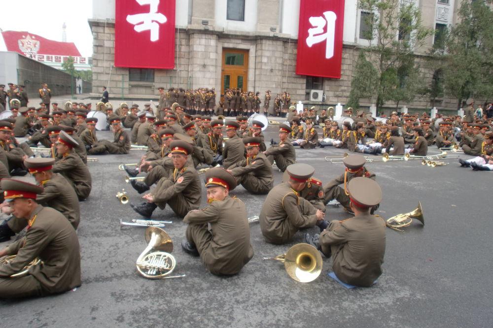 Parada z okazji zjazdu Partii w Korei Północnej