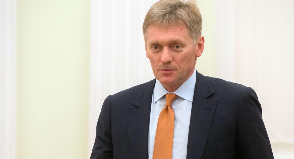 Rzecznik prasowy rosyjskiego prezydenta Dmitrij Pieskow na Kremlu