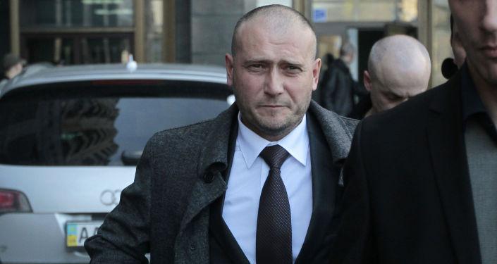Lider ekstremistycznej organizacji Prawy sektor Dmitrij Jarosz