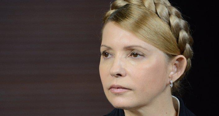 Liderka frakcji parlamentarnej Batkiwszczyna, była premier Ukrainy Julia Tymoszenko