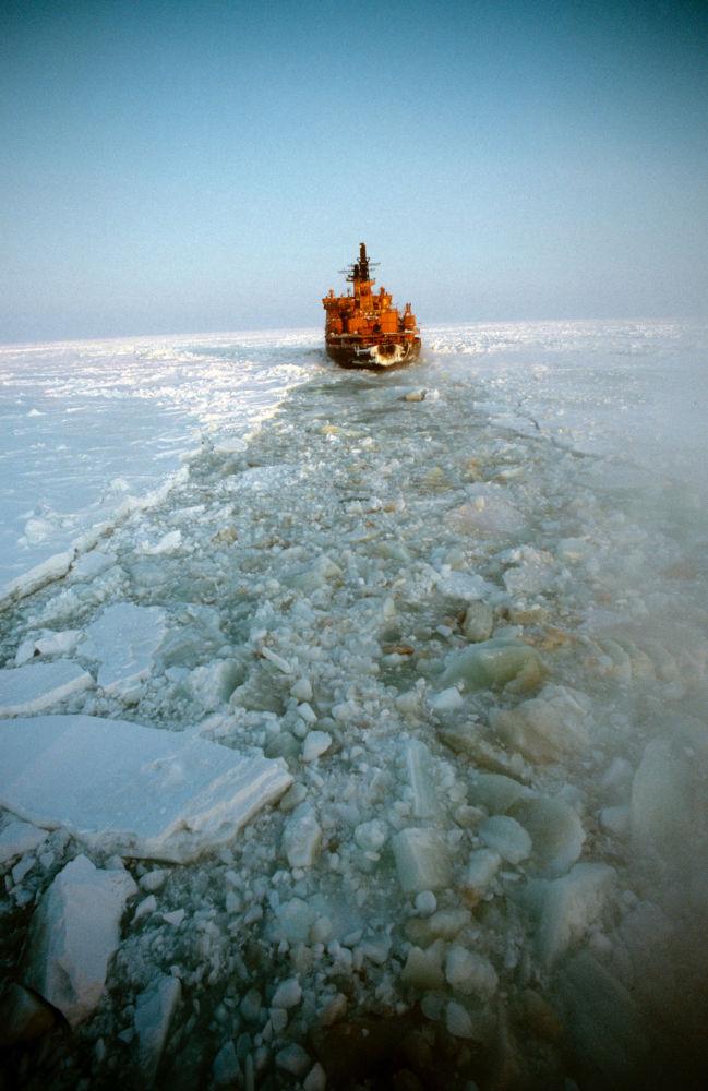 """Lodołamacz """"Arktyka"""" na Morzu Karskim"""