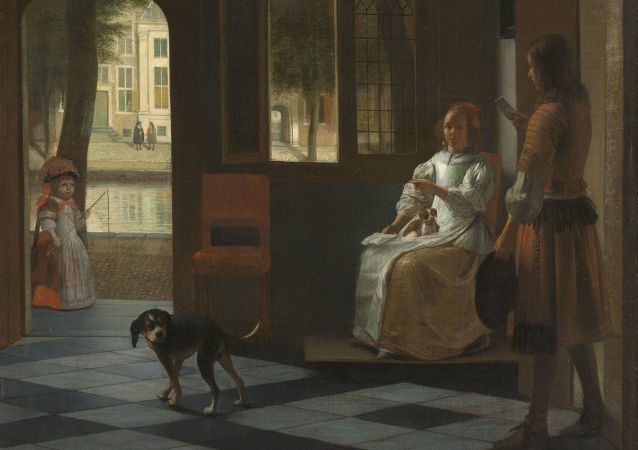 Obraz holenderskiego artysty Pietera de Hooch List