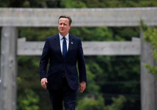 Premier Wielkiej Brytanii David Cameron na szczycie G7 w Japonii