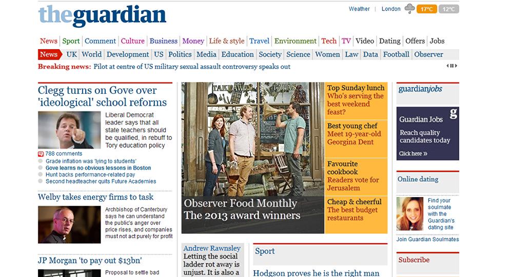 The Guardian - strona internetowa
