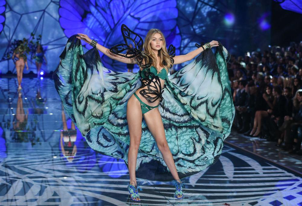 Amerykańska modelka i telewizyjna prowadząca Gigi Hadid jest jednym z aniołków Victoria's Secret, a także twarzą kilku linii marki Tom Ford.