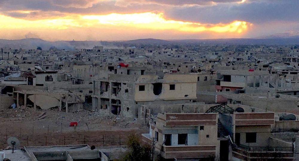 Przedmieścia Damaszku Darajja, gdzie syryjscy żołnierze walczą z oddziałami terrorystów