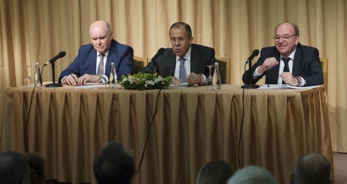 Spotkanie szefa MSZ Rosji Siergieja Ławrowa z przedstawicielami rosyjskich organizacji niekomercyjnych