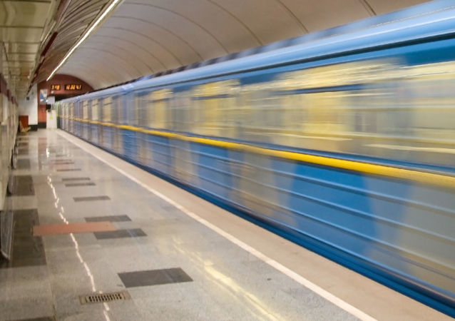 Stacja metro w Kijowie. Ukraina.
