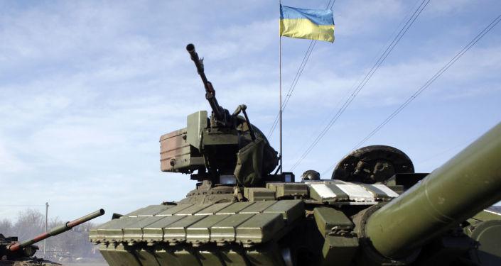 Ukraińskie czołgi pod Gorłówką