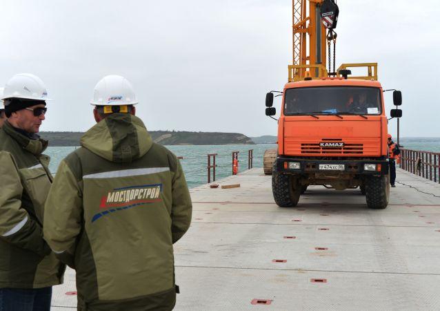 Budowa mostu nad Cieśniną Kerczeńską łączącego Rosję z Krymem