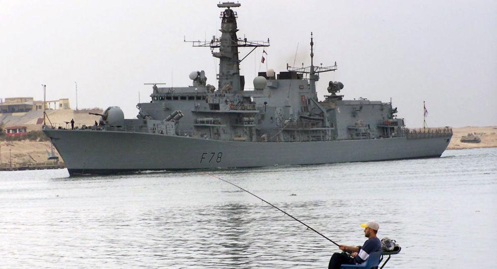 Brytyjska fregata HMS Kent