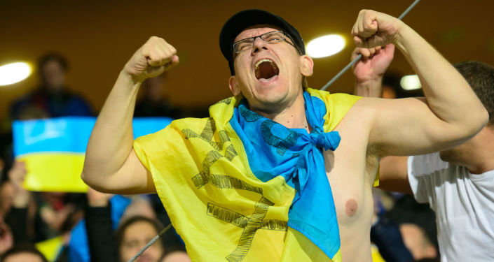 Ukraiński kibic na Euro-2016