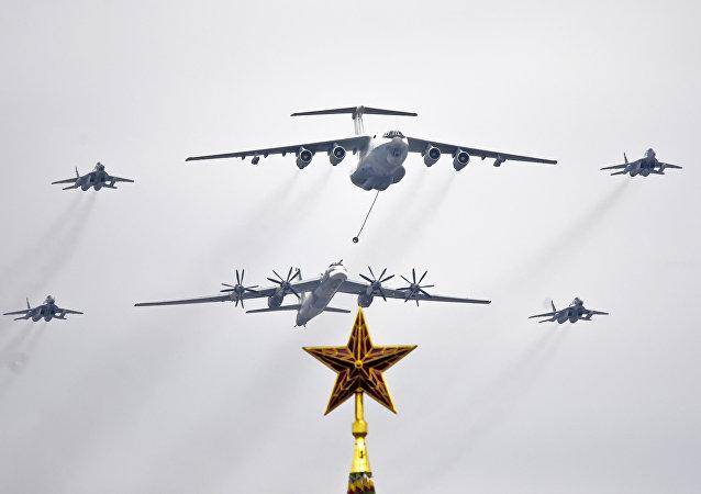Samoloty nad placem Czerwonym