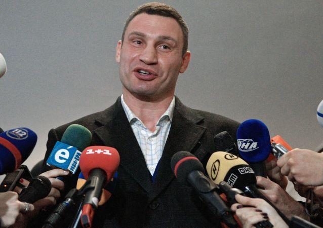 Lider partii Solidarność, mer Kijowa Witalij Kliczko