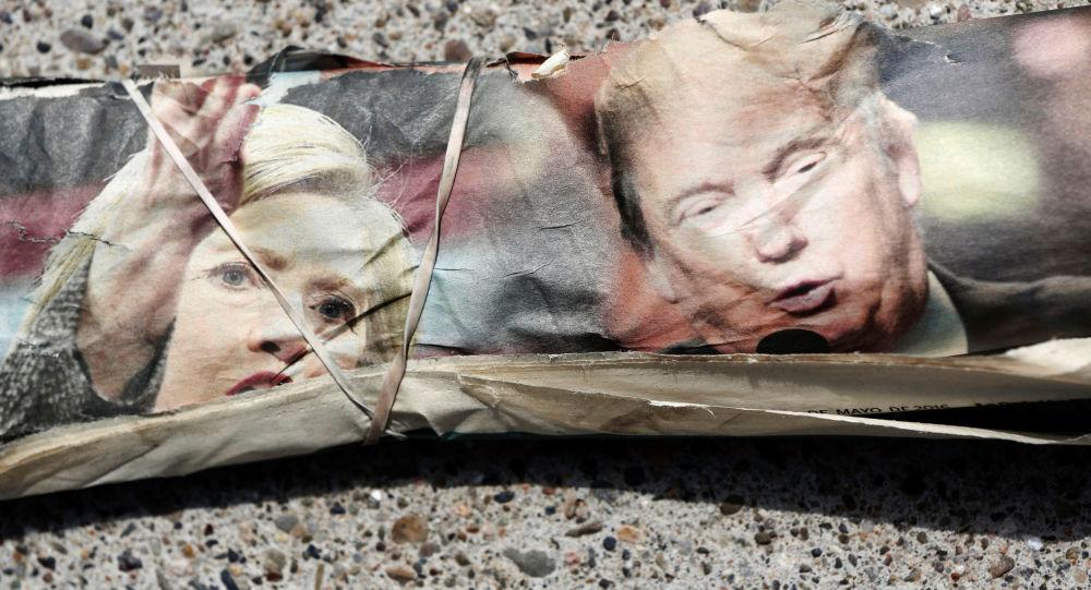 Zdjęcia kandydatów na prezydenta USA Hillary Clinton i Donalda Trumpa