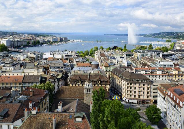 Widok na Genewę