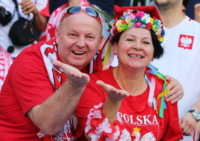 Polscy kibice przed meczem Polska - Irlandia Północna podczas Euro-2016