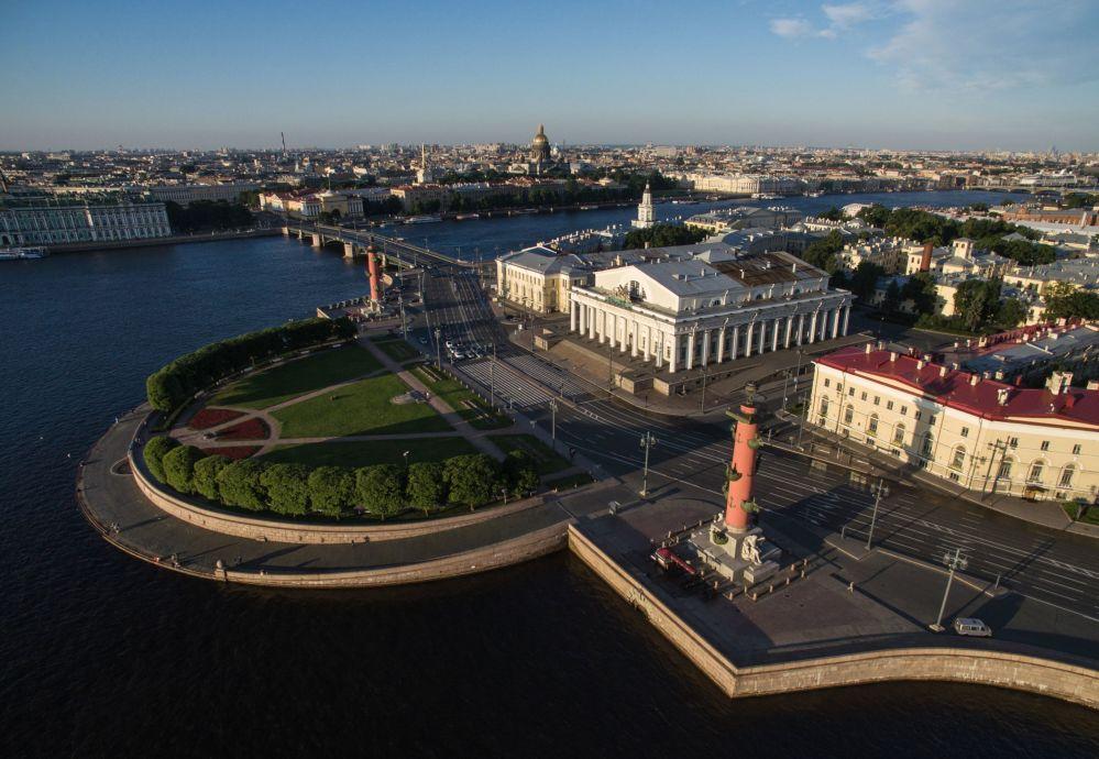 Strzałka Wyspy Wasilewskiego w Petersburgu
