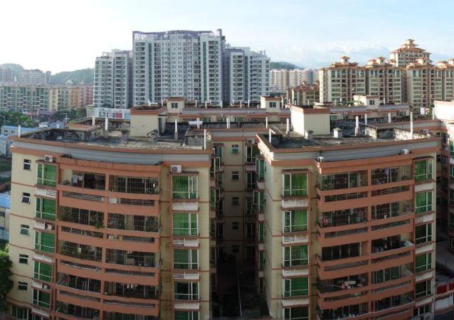 Widok na chińskie miasto Zhongshan