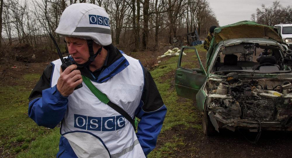 Obserwator OBWE w Szyrokino na Ukrainie