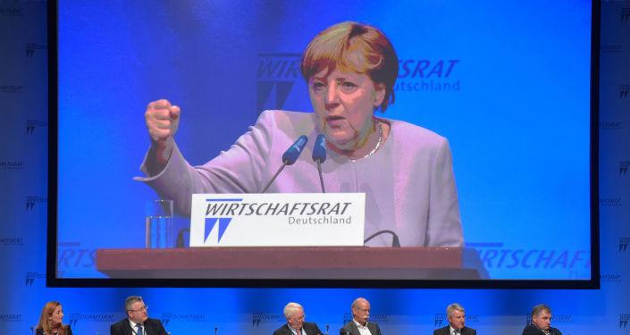 Przemówienie kanclerz Niemiec Angela Merkel podczas posiedzenia Rady Gospodarczej Niemiec w Berlinie