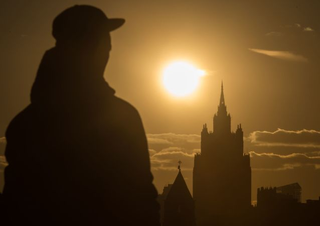 Przechodzeń w Moskwie