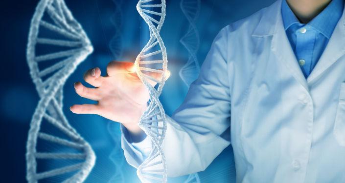 Uczony i molekuly DNA