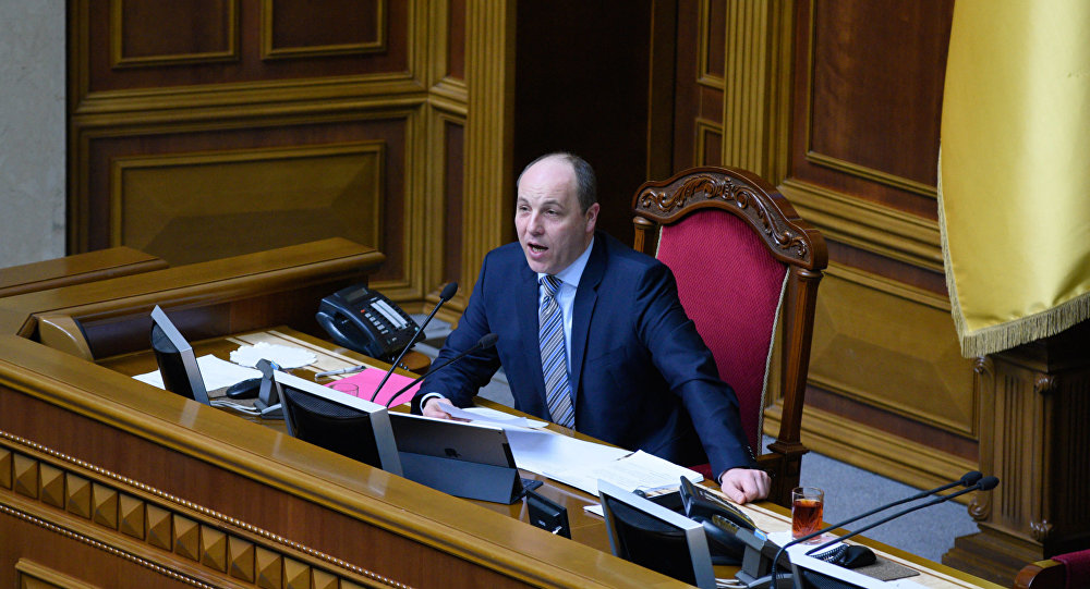 Przewodniczący Rady Najwyższej Andrij Parubij