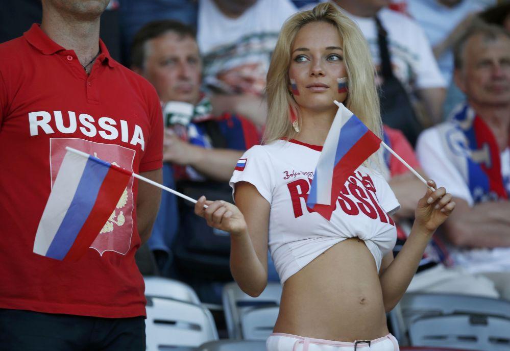 Rosyjska kibicka na Euro 2016