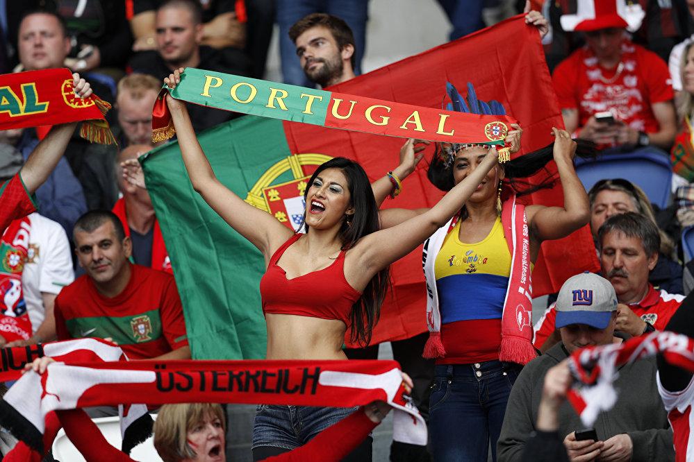 Kibicka reprezentacji Portugalii na Euro 2016