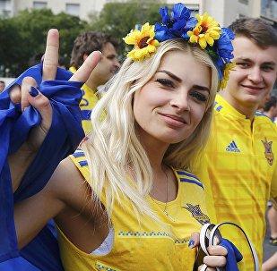 Ukraińska kibicka na Euro 2016