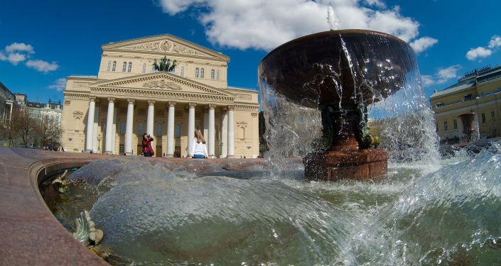 Fontanna na Placu Teatralnym w Moskwie