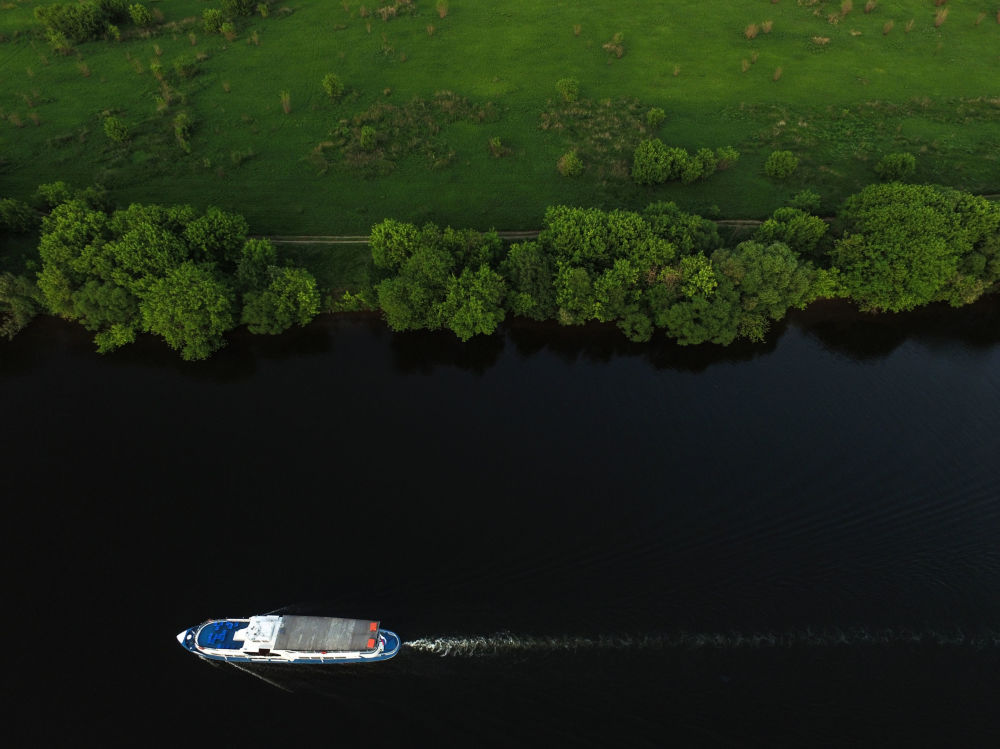 Rzeka Moskwa na terenie dawnej rezydencji wielkich książąt moskiewskich, a następnie carów w Kołomienskoje