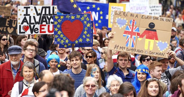 Londyńczycy protestują przeciwko Brexitowi