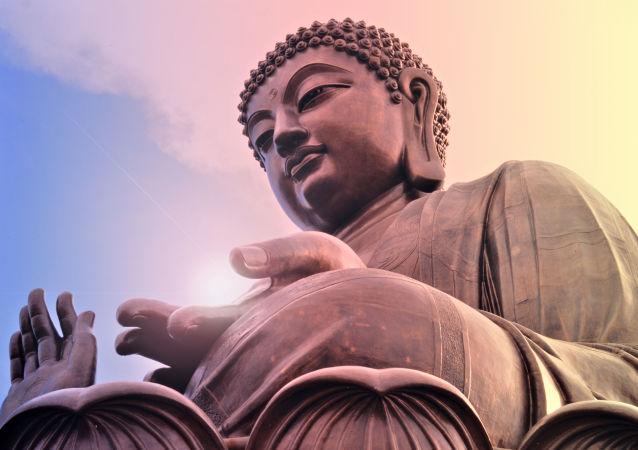 Posąg Buddy w Hongkongu