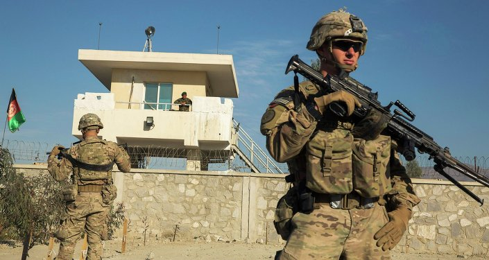 Żołnierz armii USA podczas misji w Afganistanie, 28 grudnia 2014