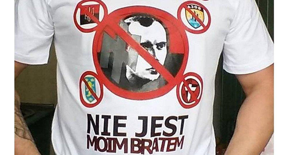 Koszulki antybanderowskie zrobione przez Braterstwo Polsko-Rosyjskie