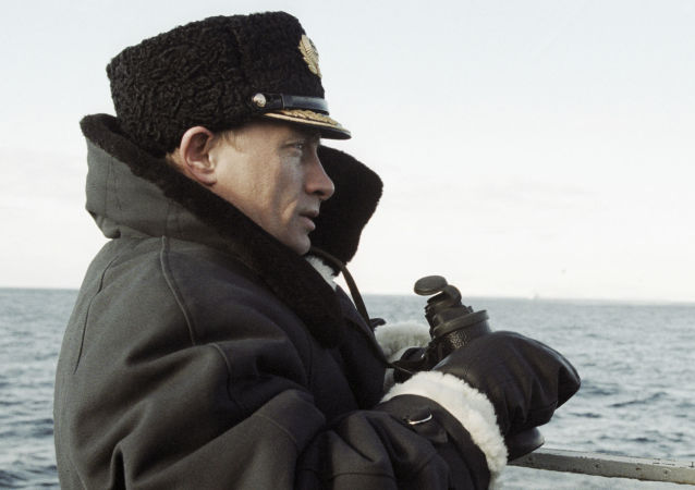 Władimir Putin na rosyjskim okręcie atomowym Karelia