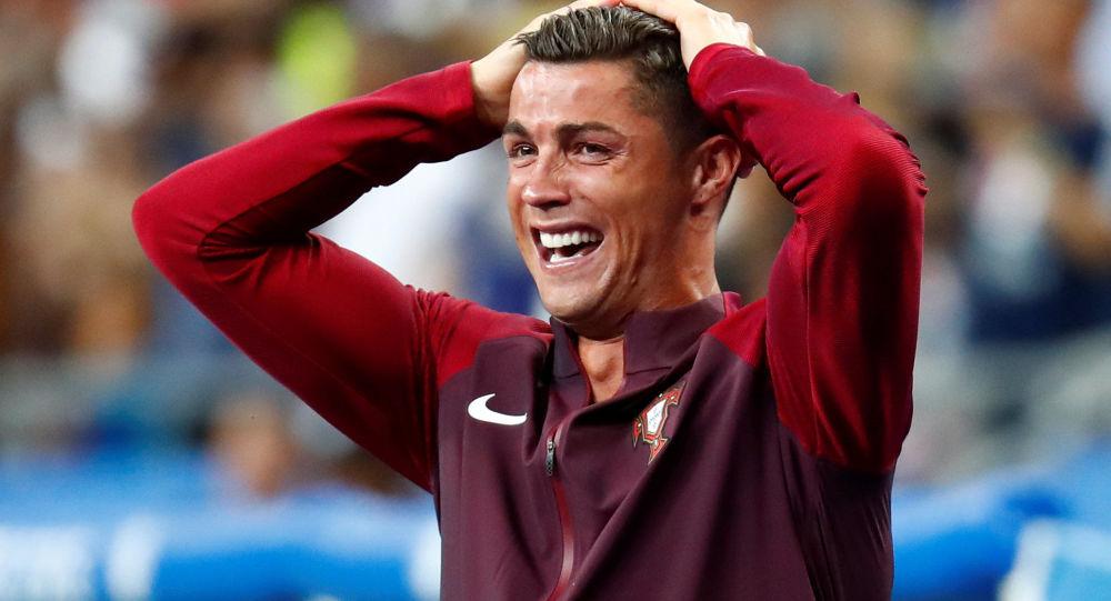 Cristiano Ronaldo po zakończeniu meczu Francja-Portugalia na Euro 2016
