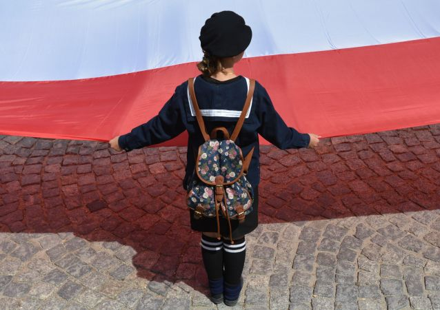 Flaga Polski, zdjęcie archiwalne