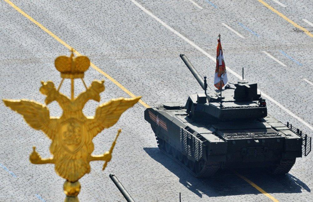 Tank T-14 Armata na Defiladzie Zwycięstwa 9 maja 2015