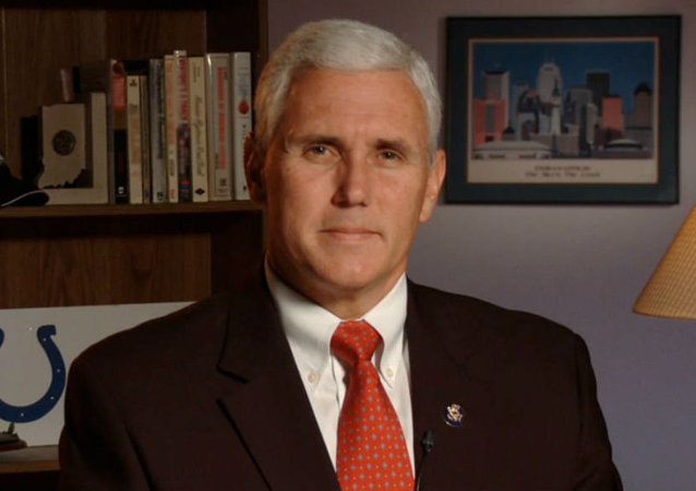 Republikański kandydat na wiceprezydenta USA Mike Pence