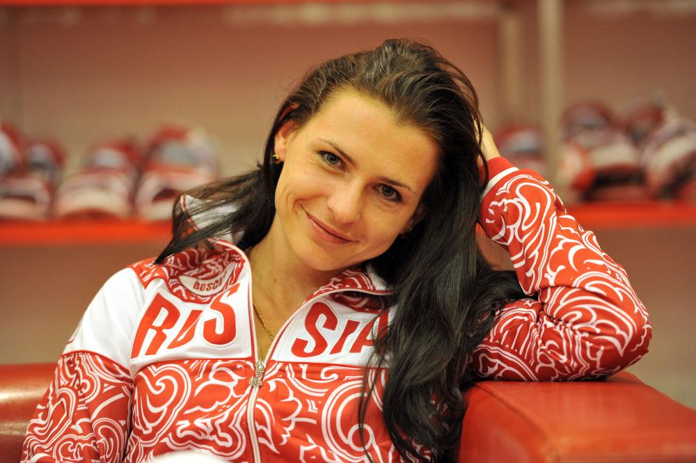 Biegaczka Jewgienija Poliakova.