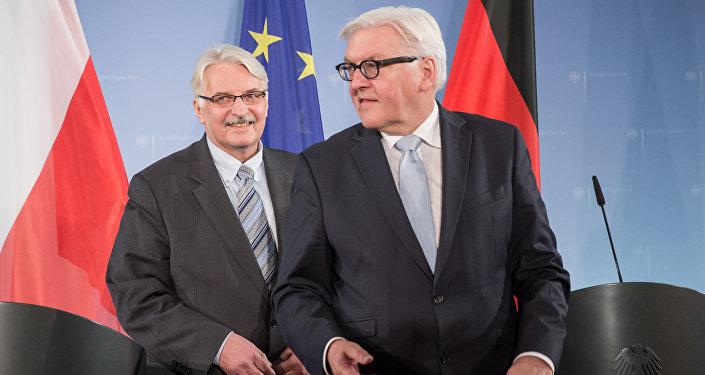 Minister spraw zagranicznych Frank-Walter Steinmeier z Witoldem Waszczykowskim, Berlin, 2015 rok